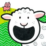 farm, sheep, and little pig